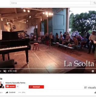 """Pubblicato il video del Canto d'ingresso del madrigale rappresentativo """"La Scolta"""", musica di Roberto Scarcella Perino e testi di Gian Maria Annovi"""